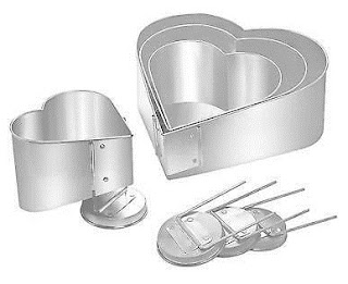 Topsy-turvy heart 4 tiered wedding cake pan