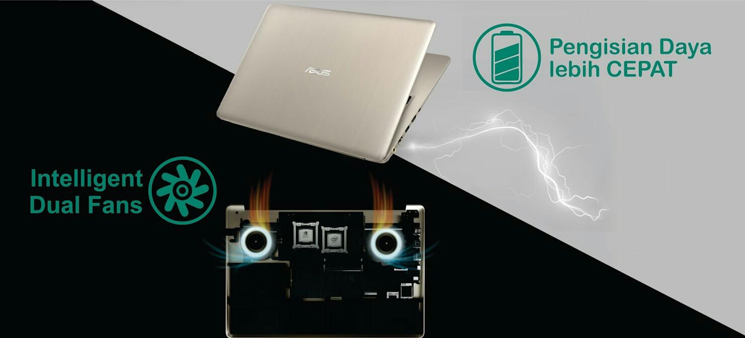 ANTI PANAS DAN PENGISIAN CEPAT ASUS Vivobook Pro 15 N580VD