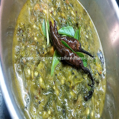 Amaranth Leaves / Thotakura Raw Mango Dal Recipe