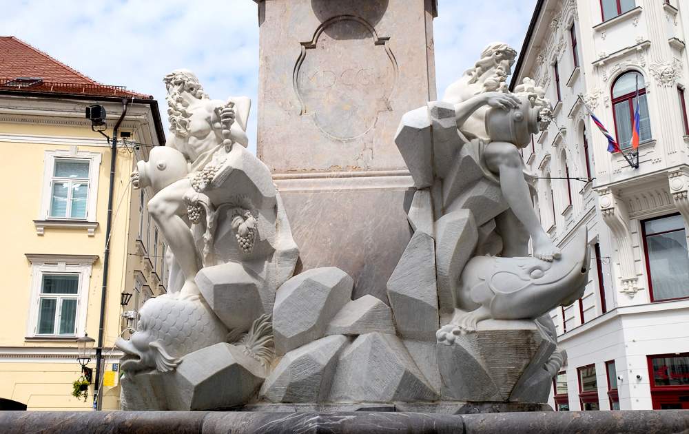 The Robba Fountain in Ljubljana