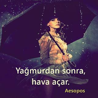 Yağmur İle İlgili Resimli Sözler