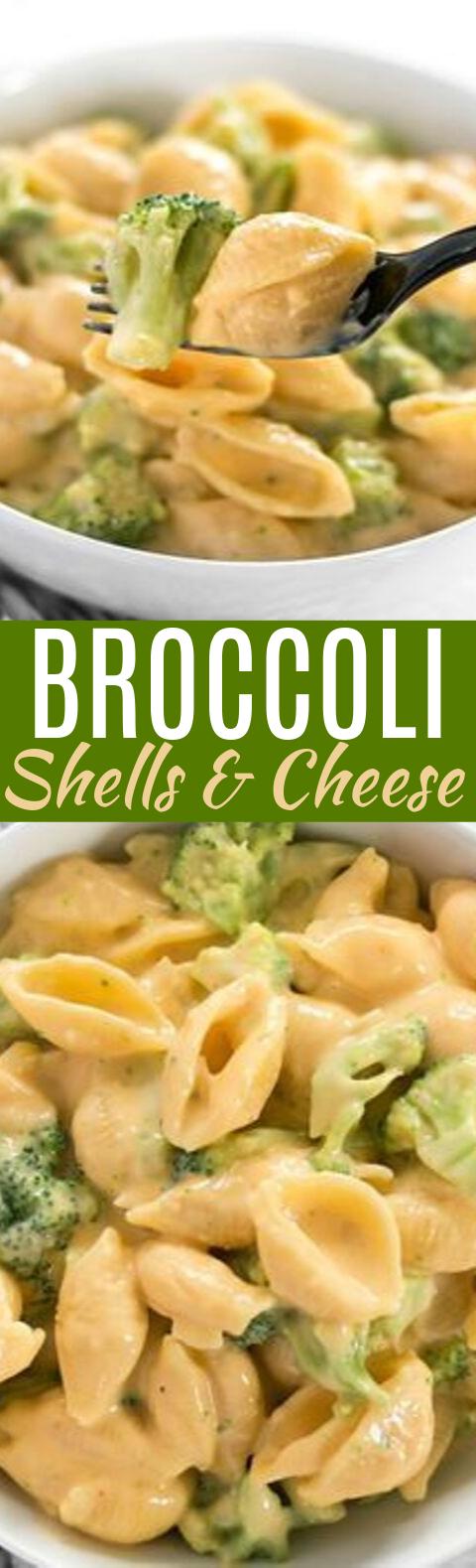 Broccoli Shells n' Cheese #dinner #pasta