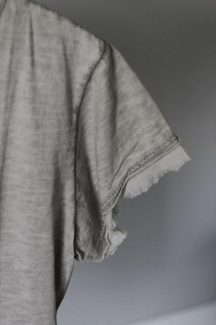 annelies design, t-shirt, tshirt, tshirtar, sommar, vårm våren, sommarkläder, kläder, rosa, vit, grå, tabacco, råa kanter, sixty days, mode,