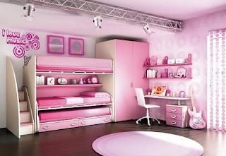 Dormitorio rosa chicas