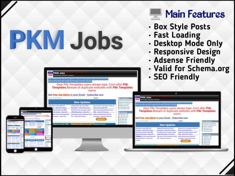 PKM Jobs Template - Responsive Blogger Template