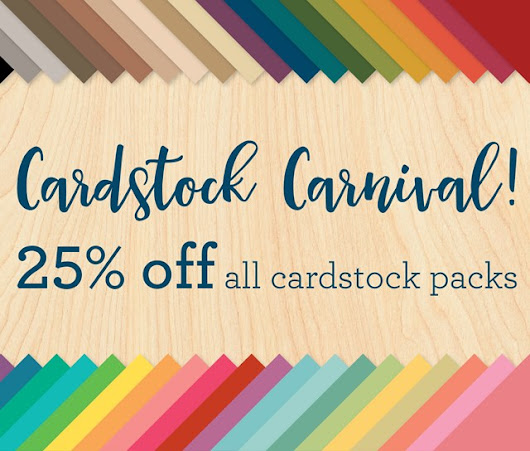 25% of all cardstock packs!