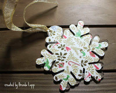 Anna Griffin Create 2019 Snowflake Ornament back