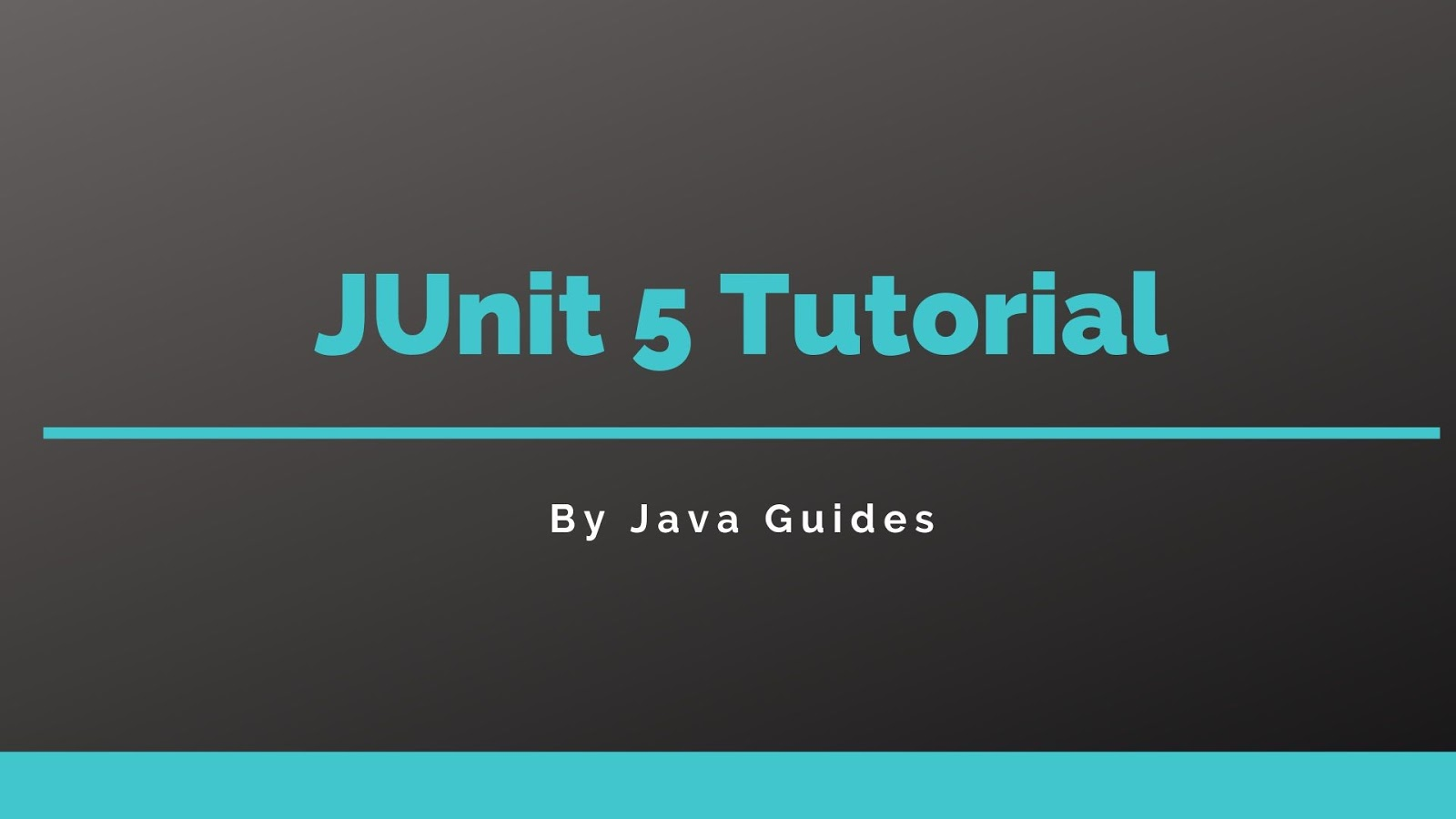 JUnit 5 Tutorial