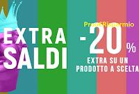 Logo Pittarello ''Extra Saldi : -20% extra su un prodotto già scontato''