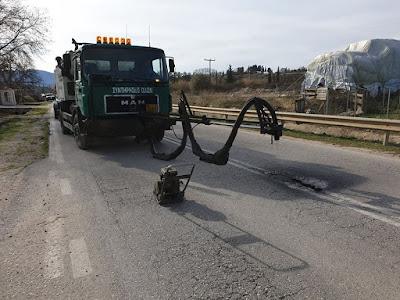 Π.Ε. Θεσπρωτίας: Μπάλωσε τις τρύπες στον δρόμο Ηγουμενίτσα - Μαυρομάτι