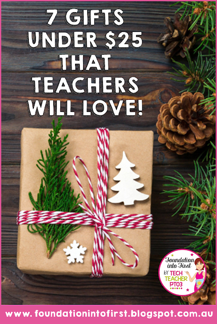 Teacher Christmas gift ideas. Stationery, books, personalised bottles and more! Find out what your teacher wants this holiday season! #foundationintofirst #blog #teacherblog #christmas #gifts