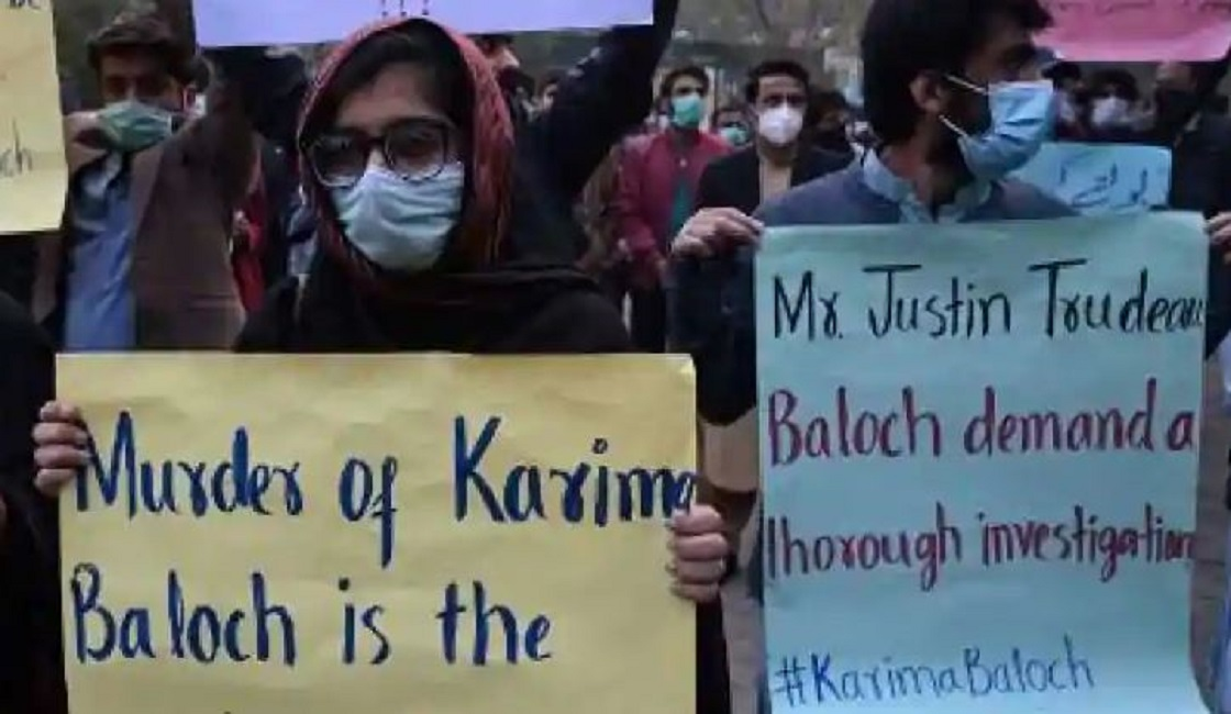 In Toronto, protest against the murder of Karima Baloch