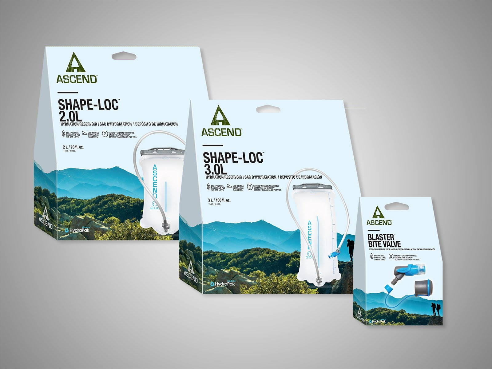 Ascend Hydration Packaging