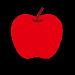 リンゴ(赤)のイラスト