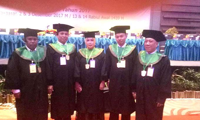 Lima Doktor Dosen UMMA Diwisuda di UMI Makassar