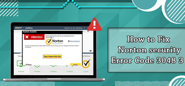 How to Fix Norton Security Error Code 3048 3