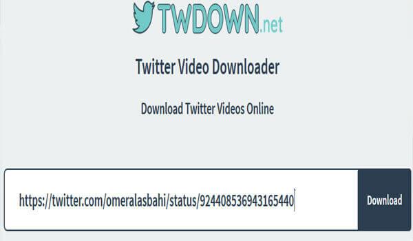 طريقة تحميل الفيديوهات من تويتر