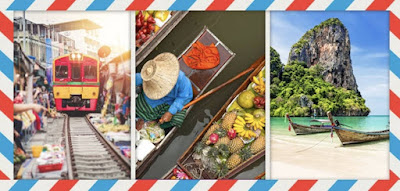 Figure: Red, yellow, green, sea, fresh food… too much going on here! But which country are these photos talking about?