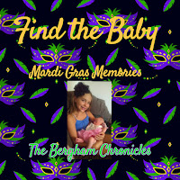Blog With Friends, a multi-blogger project based post incorporating a theme, Mardi Gras | Find the Baby by Jules of The Bergham Chronicles | Featured on www.BakingInATornado.com