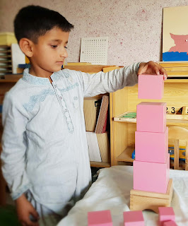 Montessori  Pink Tower Activity