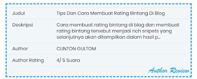 Tips Dan Cara Membuat Rating Bintang Di Blog