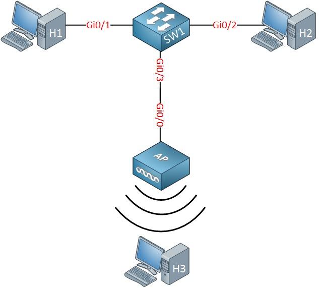 شبكة مع نقطة وصول