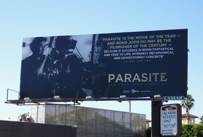 Parasite movie FYC billboard