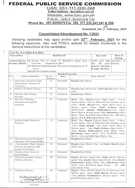 fpsc-jobs-2021-advertisement-no-1-apply-online-www-fpsc-gov-pk