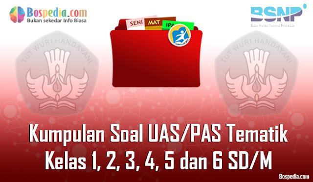 Kumpulan Soal UAS/PAS Tematik untuk Kelas 1, 2, 3, 4, 5 dan 6 SD/M dan Kunci Jawaban