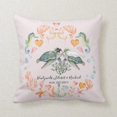 sea turtle themed ring bearer pillow wedding gift