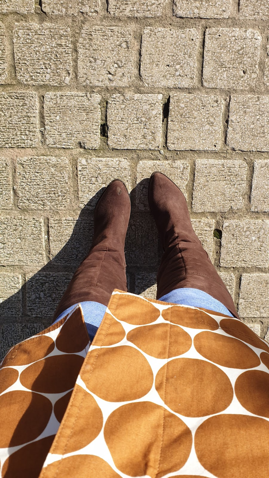 First Signs Of Spring And My Large Polka Dot's On My Coat