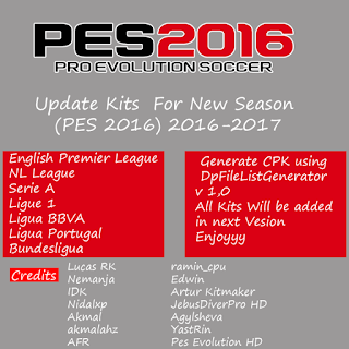 Pes 2016 Update Kits For New Season 2016-2017 By TopHardSoft