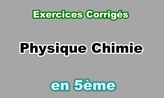 Exercours Exercices Corriges Physique Chimie 5eme En Pdf