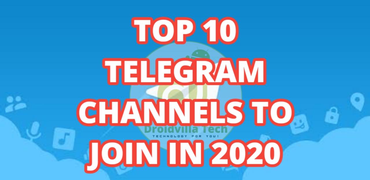 Top 10 telegram channels
