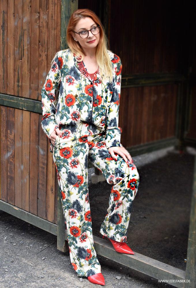 Pyjama mit Blumenmuster, Streetsstyle