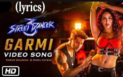 Garmi lyrics in hindi - Badshah