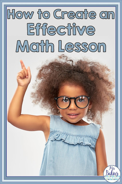 How to Create Effect Math Lessons