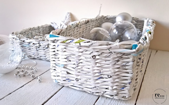 basket, wicker paper, paper weaving, recycle, hand made, papierowa wiklina, koszyk