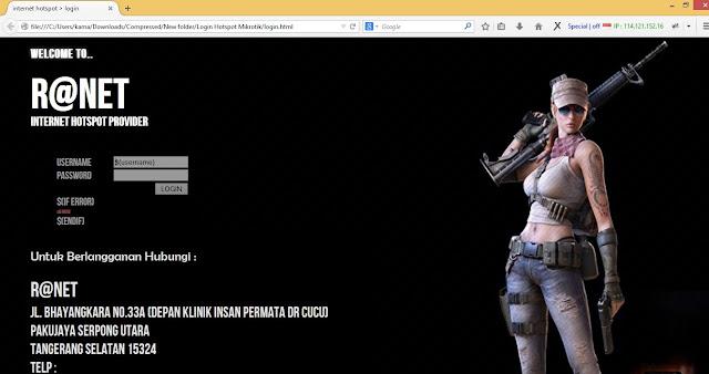 Template Login Page Hotspot Mikrotik Ranet