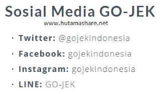 kumpulan semua real akun sosial media sosmed gojek go-jek