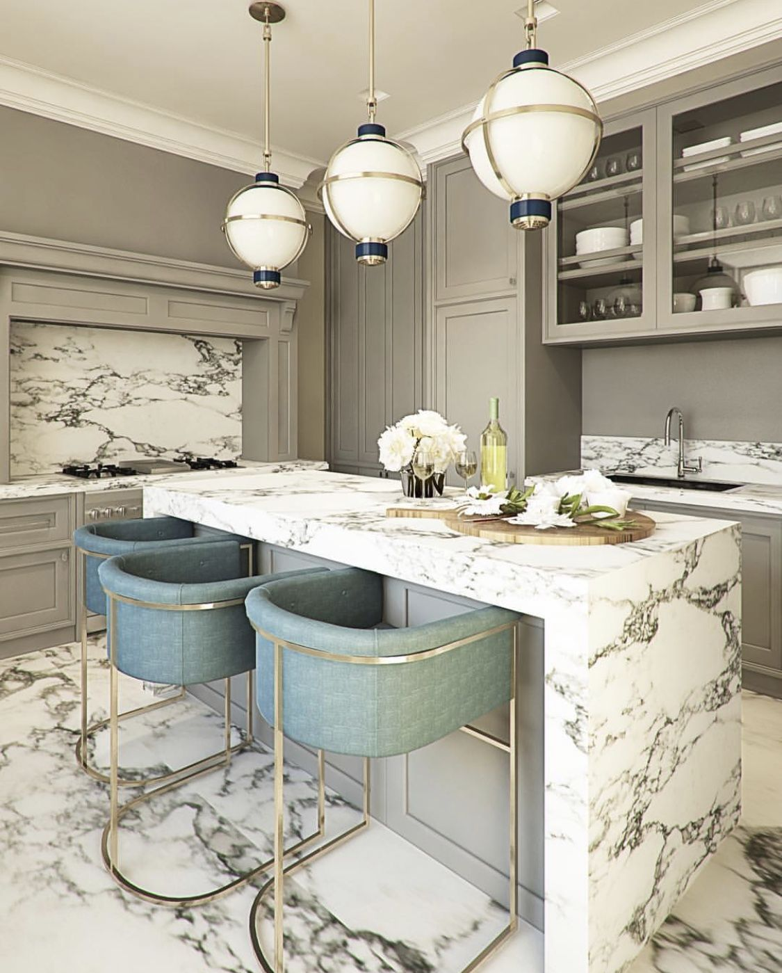Gorgeous Marble Kitchen Countertops