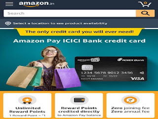 Amazon pay card ICICI credit
