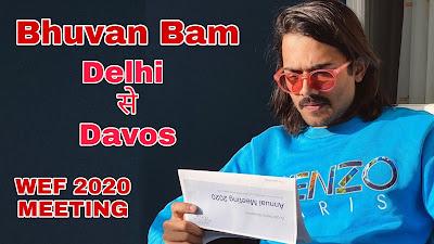 Bhuvan-bam-in-davos-wef-2020,bhuvan-bam