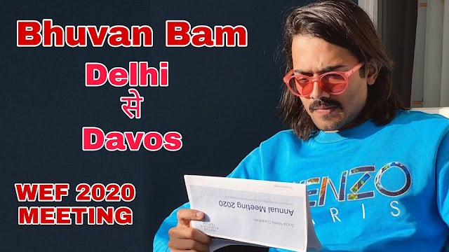 Bhuvan Bam on attending WEF for the first time. | BB Ki Vines In Davos