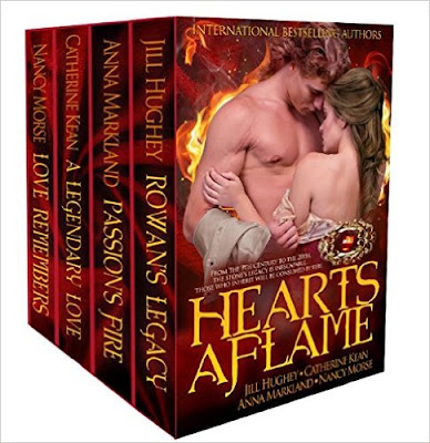 Review: Hearts Aflame historial romance collection, by Jill Hughey, Anna Markland, Catherine Kean and Nancy Morse