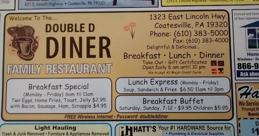 Double D Diner and Family Restaurant in Coatesville