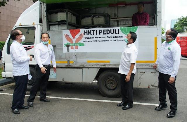Posko HKTI Peduli Berikan Bantuan Makanan sehat dan Bergizi Untuk Tim Medis