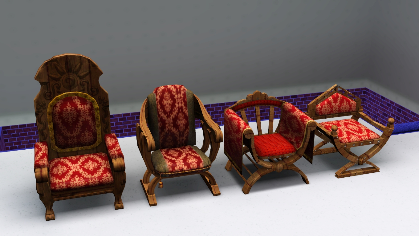 medieval dining chairs reclining chair movie theater my sims 3 blog living and by