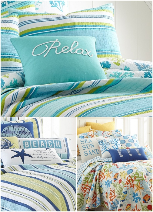 Coastal Beach Theme Bedding Comforters Quilts Sets