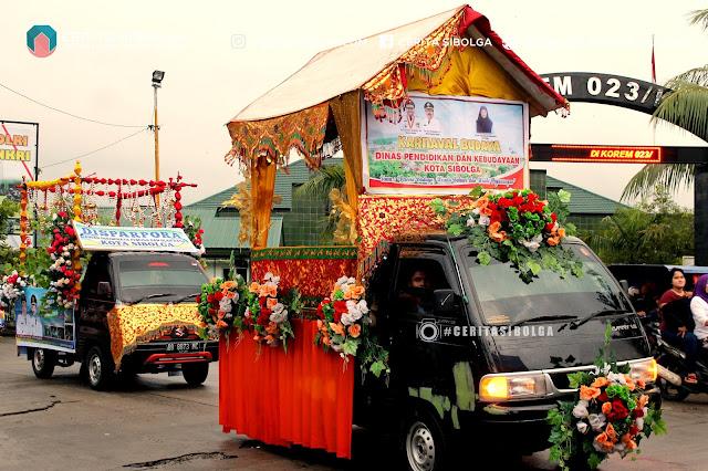 Karnaval Hari Pariwisata Sedunia di kota Sibolga